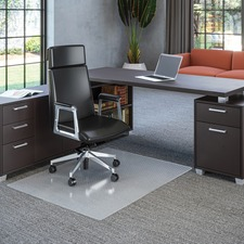 "Deflecto Polycarbonate Chairmat for Carpet - Carpeted Floor - 53"" (1346.20 mm) Length x 45"" (1143 mm) Width x 62.50 mil (1.59 mm) Thickness - Rectangle - Polycarbonate - Clear"