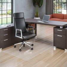 "Deflecto Polycarbonate Chairmat for Hard Floors - Hard Floor - 53"" (1346.20 mm) Length x 45"" (1143 mm) Width - Rectangle - Polycarbonate - Clear"