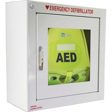 ZOL 80000855 Zoll Medical AED Plus Defib. Alarmed Wall Cabinet ZOL80000855