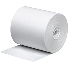 "Business Source Bond Paper - 2 1/4"" x 150 ft - 3 / Pack - White"