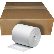 "Business Source Cash Register Roll - 3"" x 165 ft - 1 / Roll - White"