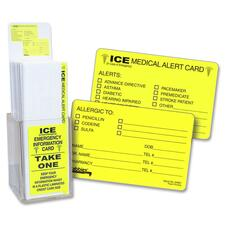 TAB 34651 Tabbies Acrylic Emergency Information Card Display TAB34651