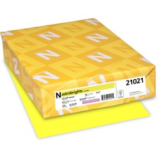 WAU 21021 Wausau Astrobrights Assorted 65lb Card Stock WAU21021