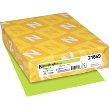 WAU 21869 Wausau Astrobrights Assorted 65lb Card Stock WAU21869