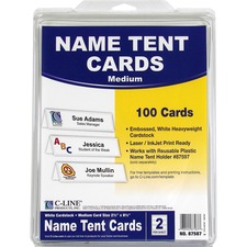 CLI 87587 C-Line Embossed Cardstock Name Tents  CLI87587