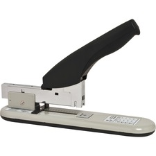 "Business Source Economy Heavy-duty Stapler - 100 Sheets Capacity - 1/2"" Staple Size - Black, Putty"
