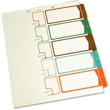 SJP S05175 SJ Paper Speedex Letter Size Side Tab TOC Dividers SJPS05175
