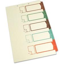 SJP S05275 SJ Paper Speedex Legal Size Side Tab TOC Dividers SJPS05275