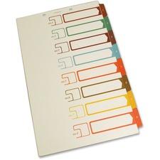SJP S05278 SJ Paper Speedex Legal Size Side Tab TOC Dividers SJPS05278