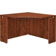 "Lorell Essentials Series Cherry Laminate Corner Desk - 41.4"" x 41.4"" x 29.5"" - Finish: Cherry, Laminate"