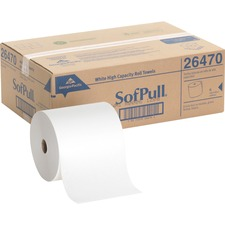 GPC 26470 Georgia Pacific Hardwound White Roll Paper Towels GPC26470