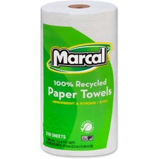 MRC 6210 Marcal Jumbo 2-Ply Recycled Paper Towels MRC6210