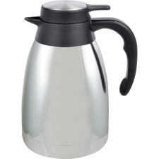 GJO 11952 Genuine Joe 1.5 L Vacuum Insulated Chrome Carafe GJO11952