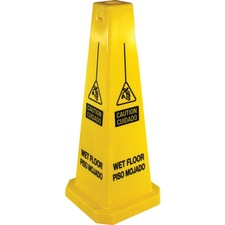GJO 58880 Genuine Joe Bright Four-sided Caution Safety Cone GJO58880
