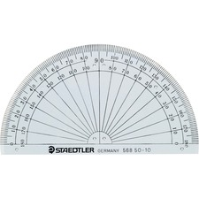 Staedtler Geometrical Protractor - Transparent - Clear - 1 Each