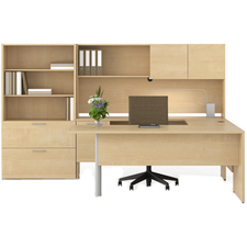 LAS3E203665LFEM - Lacasse Concept 300 Open Bookcase/Lateral File Unit