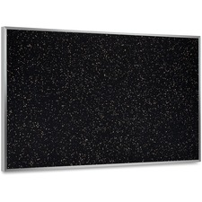"""Ghent ATR46-TN Textured Tackboard - 48"""" (1219.20 mm) Height x 72"""" (1828.80 mm) Width - Black Rubber, Tan Speck Surface - Fade Resistant, Stain Resistant, Self-healing - Anodized Aluminum Frame - 1 Each"""