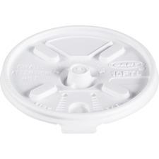 DCC 10FTL Dart Lift-n-Lock Coffee Cup White Lids DCC10FTL