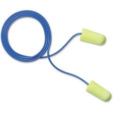 MMM 3111250 3M E-A-Rsoft Yellow Neons Corded Earplugs MMM3111250