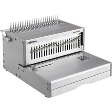 "Fellowes Orionâ""¢ E 500 Electric Comb Binding Machine - 9.75"" (247.65 mm) x 15.75"" (400.05 mm) x 19.75"" (501.65 mm) - Silver"