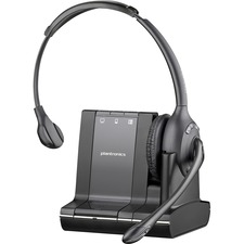 Plantronics Savi Wireless Telephone Headset - Mono - Black - Wireless - DECT - 350 ft6.80 kHz - Over-the-head - Monaural - Semi-open - Noise Cancelling Microphone