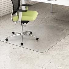 "Deflecto EnvironMat for Hard Floors - Hard Floor - 48"" (1219.20 mm) Length x 36"" (914.40 mm) Width - Lip Size 12"" (304.80 mm) Length x 20"" (508 mm) Width - Polyethylene Terephthalate (PET) - Clear"