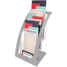 DEF 693645 Deflecto 3-tier Silver Literature Holder DEF693645