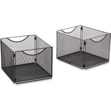 SAF 2173BL Safco Onyx Mesh Storage Cube Bins SAF2173BL