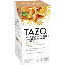 Tazo Wild Sweet Orange Tea - Decaffeinated, Herbal Tea - Wild Sweet Orange, Lemongrass, Citrus Herb, Licorice Root, Orange, Spice, Floral, Blackberry Leaf, Ginger - 24 Packet - 24 / Box