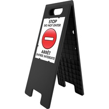 """U.S. Stamp & Sign Tent Sign - 1 Each - 10.50"""" (266.70 mm) Width x 11"""" (279.40 mm) Height - Rectangular Shape - Both Sides Display - Plastic"""