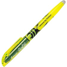 FriXion Light Erasable Highlighter - Chisel Marker Point Style - Yellow - Yellow Barrel - 1 Each