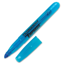 Ticonderoga Emphasis Desk Style Highlighter - Chisel Marker Point Style - Fluorescent Blue - 1 Each
