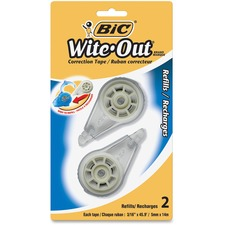 Wite-Out Correction Tape Refill Cartridge - 1 Line(s) - Tear Resistant, Odorless, Writable Surface - 2 / Pack