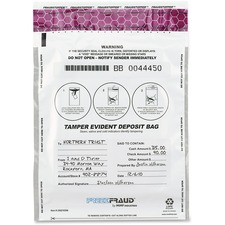 MMF 236210306 MMF Industries White FreezFraud Deposit Bags MMF236210306