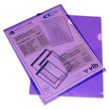 """VLB Letter Project File - 8 1/2"""" x 11"""" - Polypropylene - Violet - 10 / Pack"""