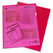 "VLB Letter Project File - 8 1/2"" x 11"" - Polypropylene - Red - 10 / Pack"
