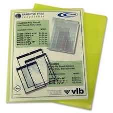 """VLB Letter Project File - 8 1/2"""" x 11"""" - Polypropylene - Yellow - 10 / Pack"""