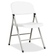 Heartwood Toughlite TLT-FC6 Folding Chairs - 6/CT - Polyethylene Seat - Powder Coated Steel Frame - Four-legged Base - 6 / Carton