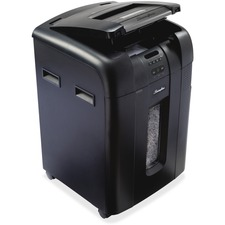 Swingline Stack-and-Shred 500X Shredder with Lock - Cross Cut - 500 Per Pass - for shredding Paper, Credit Card, Paper Clip, Staples, CD, DVD - Level 3 - 3.05 m/min - 79.49 L Wastebin Capacity - Black