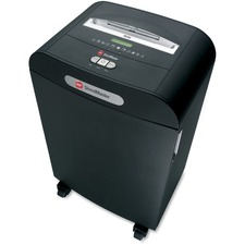 "Swingline DS22-13 Shredder - Strip Cut - 22 Per Pass - for shredding Paper, CD, DVD, Credit Card, Paper Clip, Staples - 0.3"" Shred Size - Level 2 - 4.88 m/min - 10"" Throat - 49.21 L Wastebin Capacity - Black"