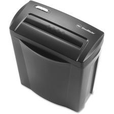 "Swingline GX5 Paper Shredder - Cross Cut - 5 Per Pass - for shredding Paper, Credit Card - 0.2"" x 1.5"" Shred Size - Level 3 - 2.59 m/min - 8.8"" Throat - 3 Minute Run Time - 30 Minute Cool Down Time - 14.01 L Wastebin Capacity - Black, Gray"