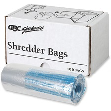 Swingline See-through Shredder Bag - 30.28 L - 100/Box - Poly - Clear