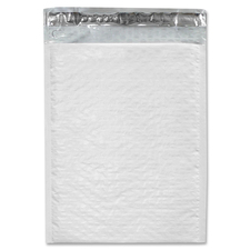 "PAC Airjacket Bubble Mailer - Bubble - #6 - 12 1/2"" Width x 18 1/4"" Length - Self-sealing - Polyethylene - 1 Each - White"