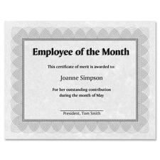 "St. James® Regent Style Certificate - 24 lb - 11"" x 8.50"" - Laser, Inkjet Compatible - Red, Silver - Paper - 100 / Pack"