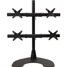 Ergotech Quad Desk Stand (2 Over 2) with Heavy Duty Base