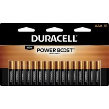 Duracell Coppertop Alkaline AAA Battery - MN2400 - For Multipurpose - AAA - 1.5 V DC - Alkaline Manganese Dioxide - 16 Each
