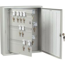 "Steelmaster 201KC60300PL Modular Key Cabinet - 15.9"" x 3.9"" x 18.8"" - Lockable - Platinum - Steel - Recycled"