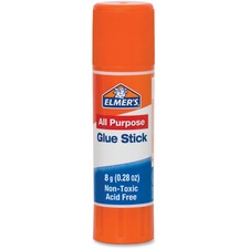 Elmer's All Purpose Glue Stick - 8 g - 24 / Pack - Clear