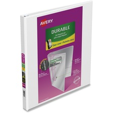 """Avery® Durable View Slant-D Presentation Binder - 1/2"""" Binder Capacity - Letter - 8 1/2"""" x 11"""" Sheet Size - D-Ring Fastener(s) - White - Recycled - 1 Each"""