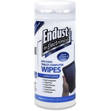 END 12596 Endust Anti-static Tablet/Computer Screen Wipes END12596